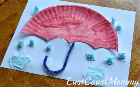 umbrella paper plate craft allfreekidscraftscom