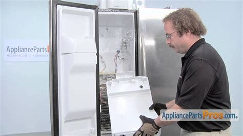refrigerator evaporator fan motor grommet part wrx   replace youtube