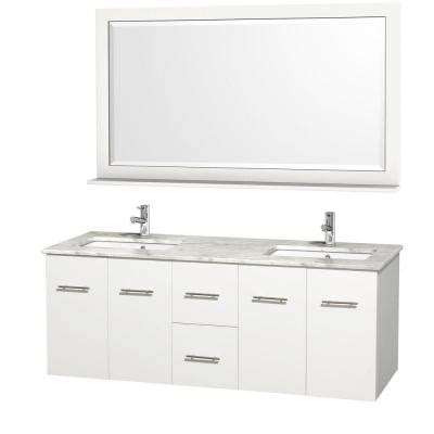 wyndham collection centra 60 in double vanity in white