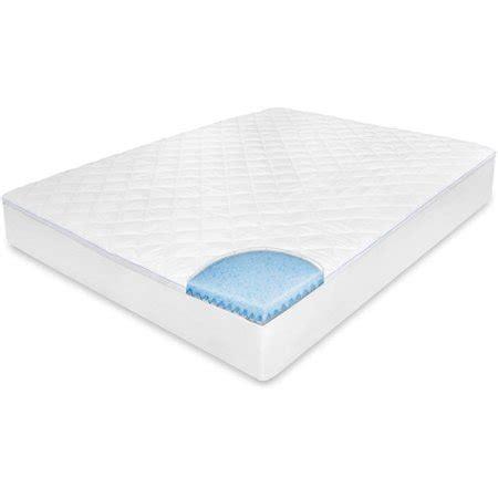 walmart mattress pad biopedic memoryloft memory foam top mattress pad