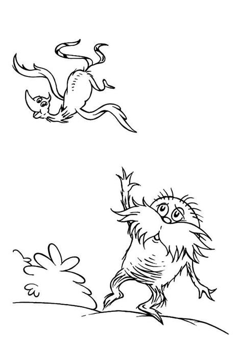 Printable Dr Seuss The Lorax Coloring Pages For Kids