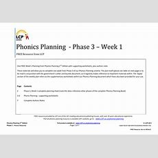 Phonics Planning Phase 3 Letters And Sounds By Lcpteachingresources  Teaching Resources Tes