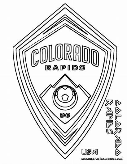 Coloring Soccer Pages Rapids Logos Sheets Colorado