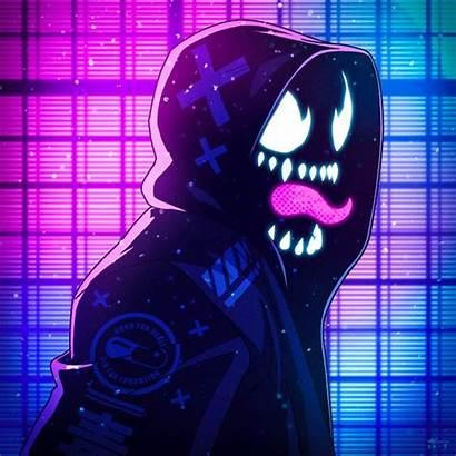 Neon Venom Noir Marvel Spiderman Spider Wallpapers