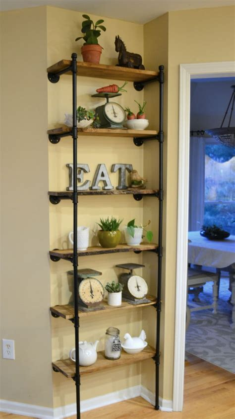kitchen storage shelves top 25 best pipe shelves ideas on industrial 3178