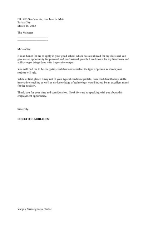 exle ng resume 28 images cover letter for a waiter
