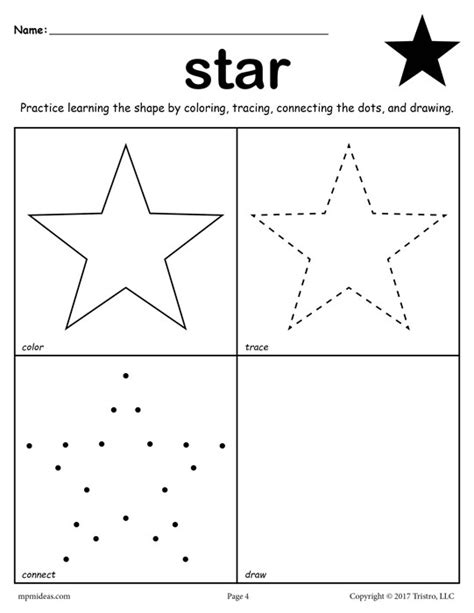 12 Free Shapes Worksheets Color, Trace, Connect, & Draw