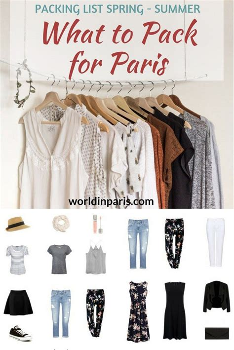 Packing for Paris What to Wear in Paris Summer u0026 Spring Edition | Packing Lists and Travel Gear ...
