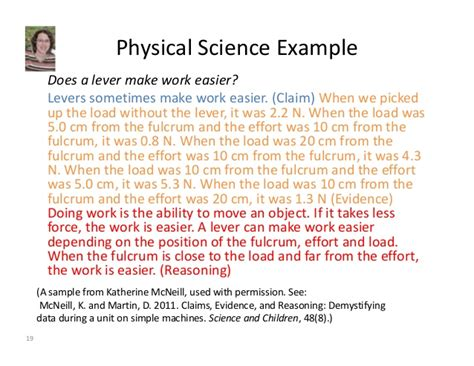 claim evidence reasoning template claim evidence and reasoning