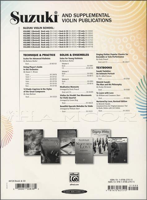 Suzuki Violin by Suzuki Violin School Volume 8 Sheet Book With Cd