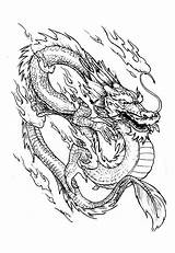 Dragon Coloring Chinese China Pages Adult Adults sketch template