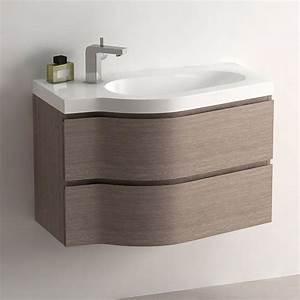 meuble de salle de bain chene fonce 80 cm surf With meuble de salle de bain 45 cm