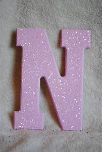 17 best images about attempting this on With pink glitter letters for wall