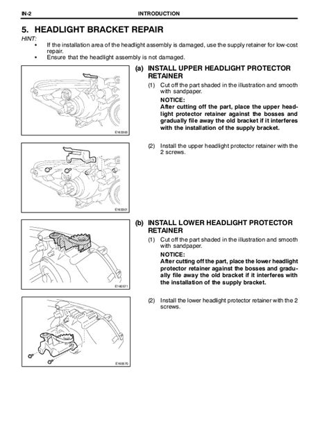 2009 2010 toyota corolla body repair manual