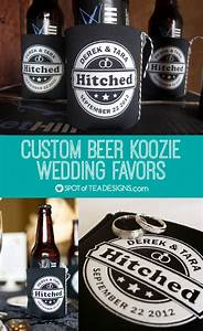 custom beer koozie wedding favor With beer koozie wedding favors