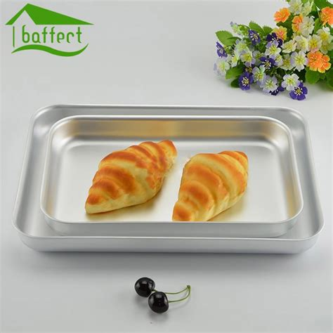 baking pan pizza cookie pans sheet tray cake plate dishes thicked alloy aluminum