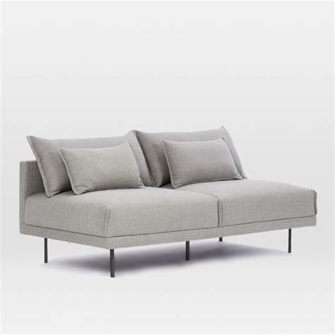 Armless Loveseat Settee by Halsey Armless Sofa 70 Quot West Elm