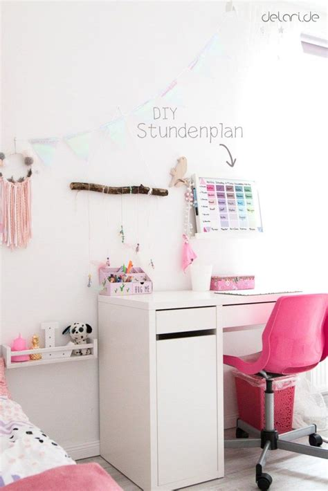 Kinderzimmer Ideen Für Mädchen by Kinderzimmer Ideen M 228 Dchen Diy Stundenplan Schreibtisch