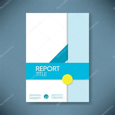 report cover template  modern material design style