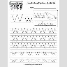 Letter W Writing Practice Worksheet  Free Kindergarten English Worksheet For Kids