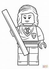 Lego Coloring Hermione Pages Granger Potter Harry Printable Print Colouring Character Dragon Getcolorings Colorings Minifigures Template sketch template