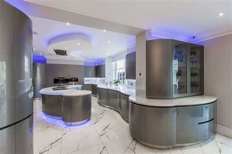 Lighting For Kitchens Ideas - contemporary futuristic kitchen lighting with blue led 4030 decoration ideas