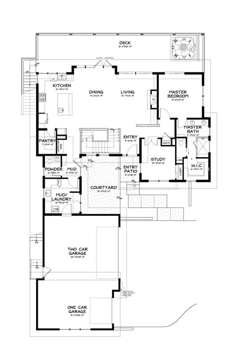Contemporary Style House Plan - 3 Beds 2.50 Baths 2687 Sq