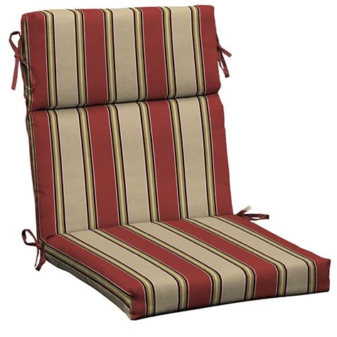 hton bay wide chili stripe outdoor dining chair cushion