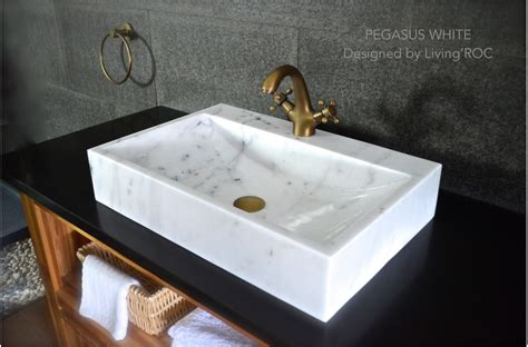 600 white marble basin bathroom sink faucet pegasus