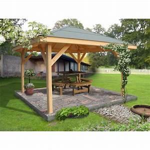 kiosque bois villaverde 1156 m2 leroy merlin With amazing tonnelle en bois pour jardin 0 kiosques bois