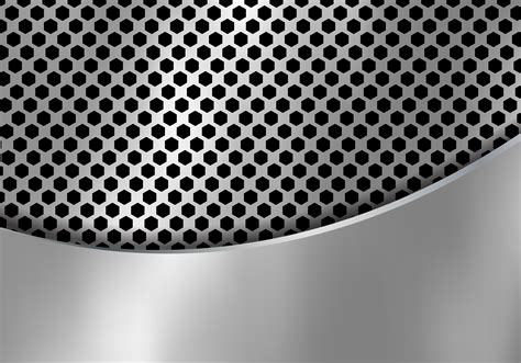abstract silver metal background   hexagon pattern