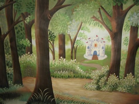 Kinderzimmer Wandgestaltung Wald by Forest Mural Idea No Castle Though For The Baby