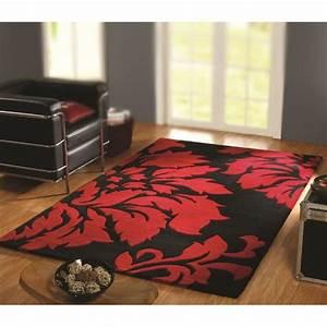 Tapis Noir Et Rouge : tapis decotex 150x240 coloris noir rouge achat vente tapis cdiscount ~ Dallasstarsshop.com Idées de Décoration