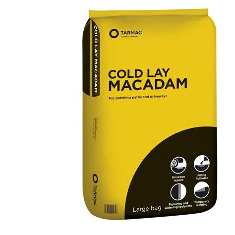 tarmac cold lay ready   macadam bag departments