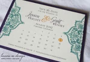 Calendar Save the Date Wedding Invitations
