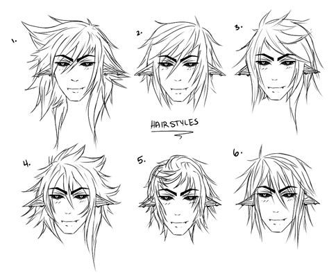 male anime hairstyles drawing at getdrawings com free