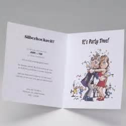 lustige sprüche zur silberhochzeit lustige einladungskarte zur silberhochzeit im comic stil