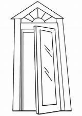 Door Coloring sketch template