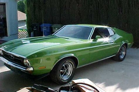 medium lime green  ford mustang fastback