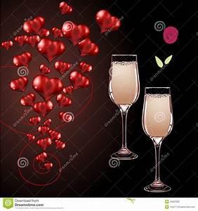 Image Champagne Anniversaire : verres de vecteur de champagne et de coeur photographie stock image 34623322 ~ Medecine-chirurgie-esthetiques.com Avis de Voitures