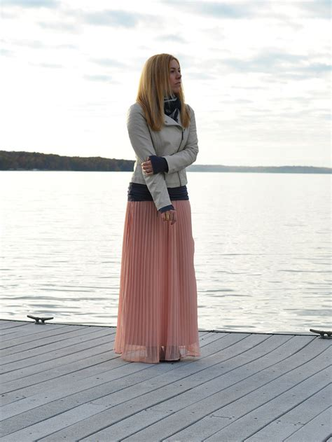 white leather maxi skirts and sunsets Allyson in