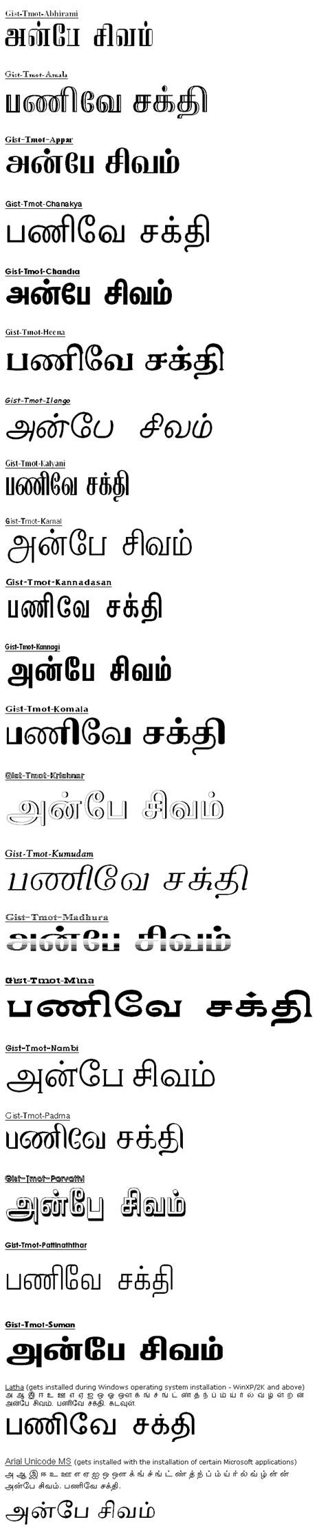 tamil fonts   driverlayer search engine
