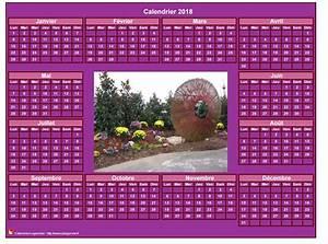 Calendrier Photo Mural : calendrier 2018 photo annuel imprimer fond rose format ~ Nature-et-papiers.com Idées de Décoration