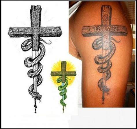 cross  snake tattoo tattoo  itattooz