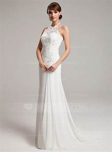 a line princess halter sweep train chiffon tulle wedding With halter a line wedding dress
