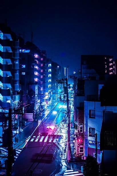 Aesthetic Tokyo Night Anime Japan Rainy Wallpapers