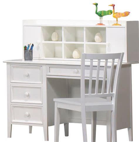 kids white desk with hutch homelegance whimsy 4 drawer kids 39 desk with hutch and