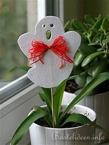 Basteln Halloween Mit Kindern : basteln mit kindern halloween pflanzenstecker aus filz ~ Yasmunasinghe.com Haus und Dekorationen