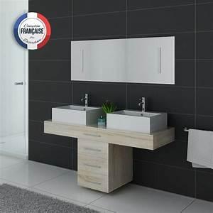 Meuble Vasque Double : meuble de salle de bain style scandinace meuble de salle de bain 2 vasques ~ Teatrodelosmanantiales.com Idées de Décoration