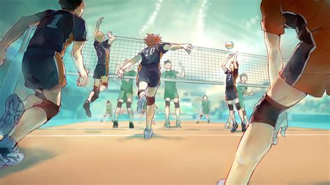 haikyu  teams playing volleyball hd anime wallpapers